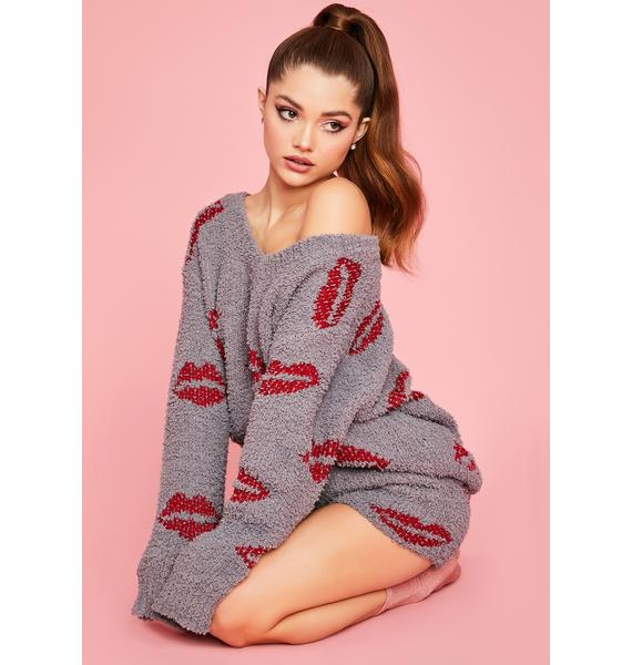Good Kisser Fuzzy Sweater