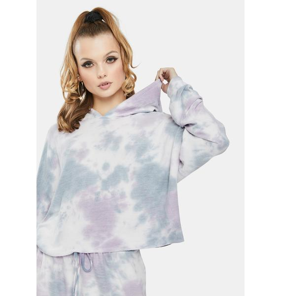 Bailey Rose Purple Tie Dye Crop Sweatshirt