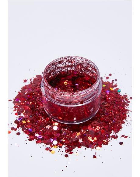 Red Diamond Face Glitter