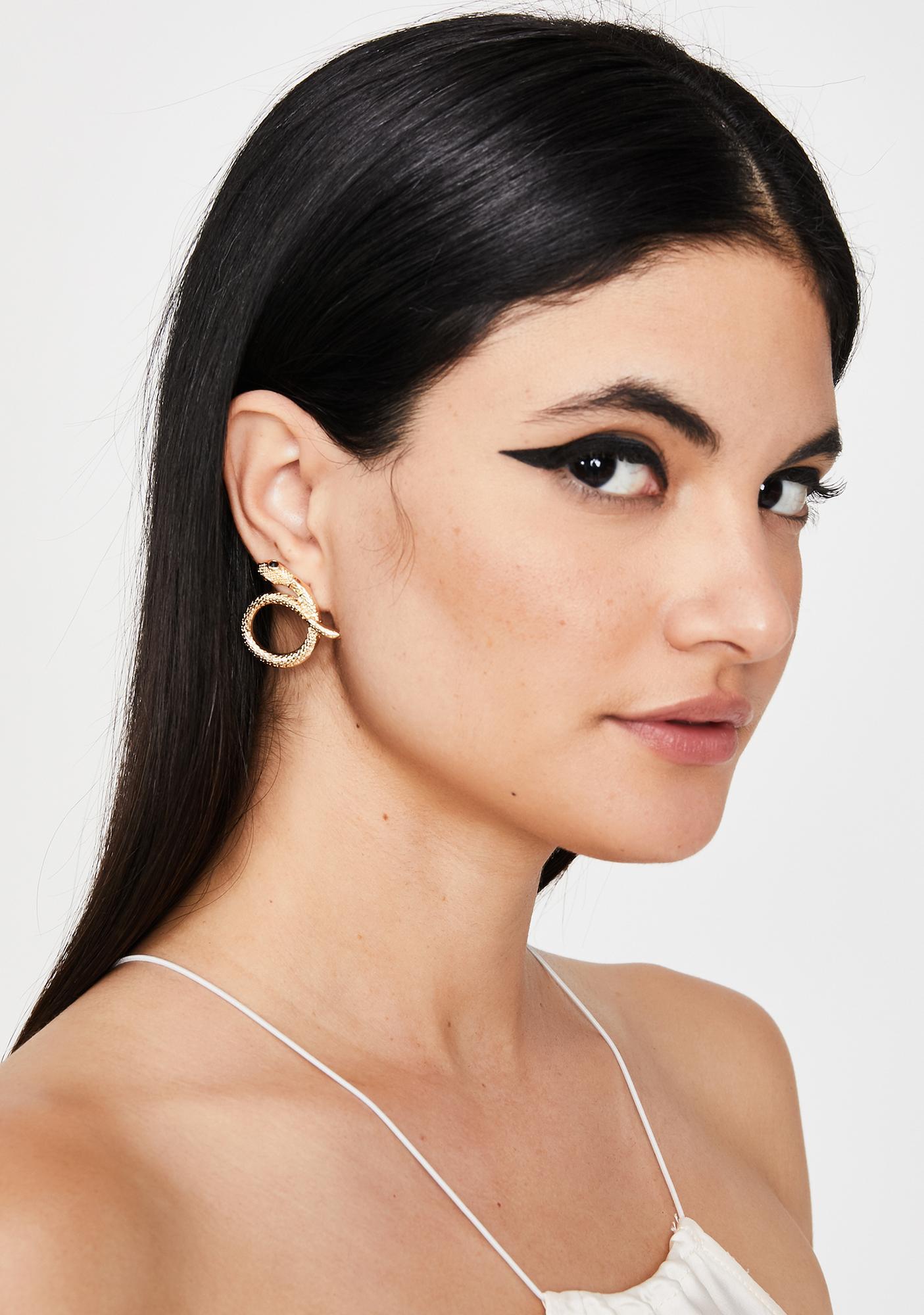 Deadly Lies Snake Earrings