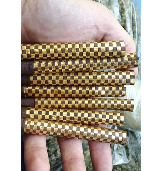 Gold Woven Blunt Wrap