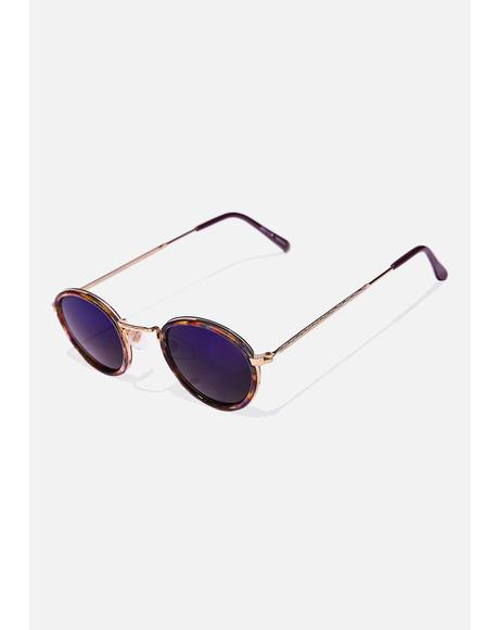 Blue Revo Rounders Sunglasses