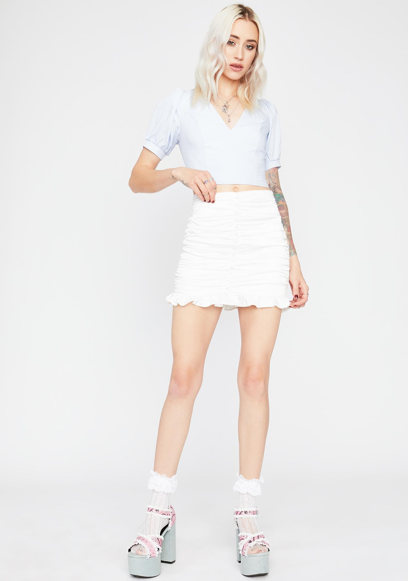 Periwinkle Too Posh Crop Top