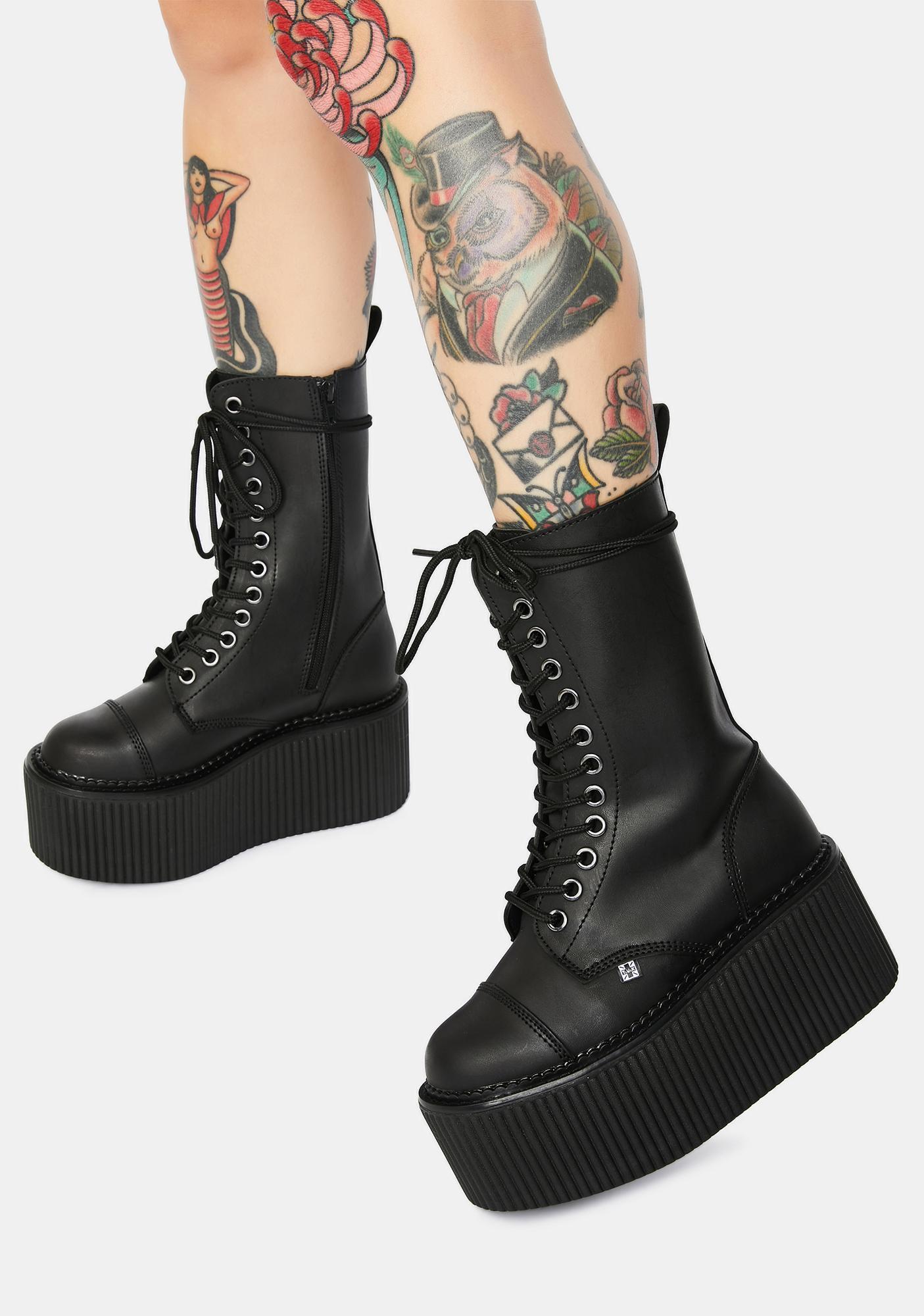 T.U.K. 12 Eye Casbash Stratocreeper Boots