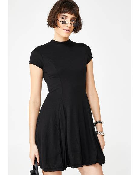 Check Yourself Flare Dress