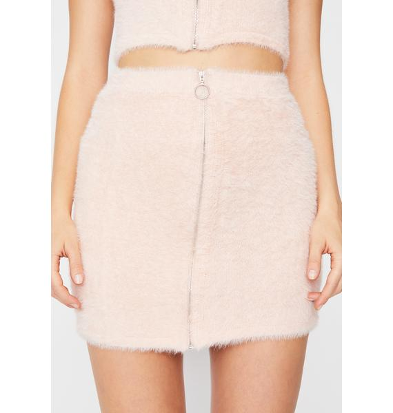 Seein' Things Fuzzy Mini Skirt