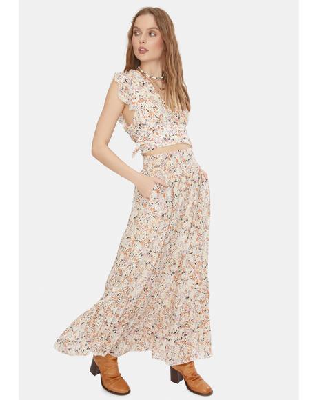 Ivory Pretty Daze Skirt Set