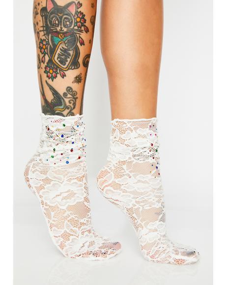 Prismatic Love Lace Socks