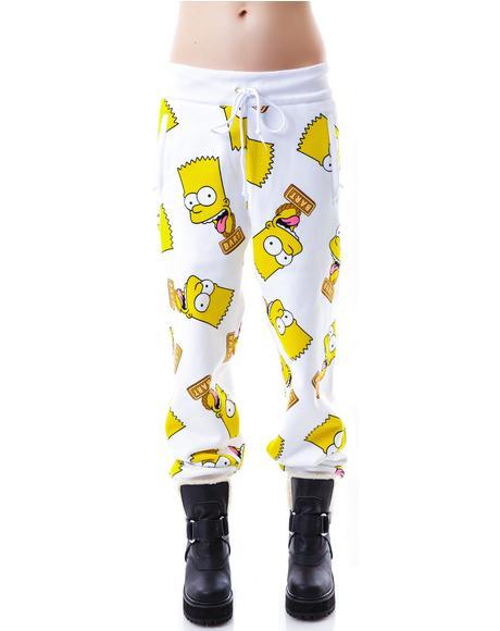 Bart Face Sweat Pants