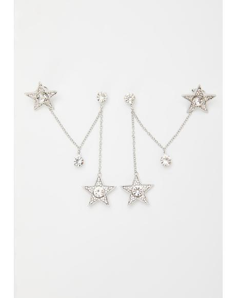 Sweet Starlet Chain Ear Cuffs