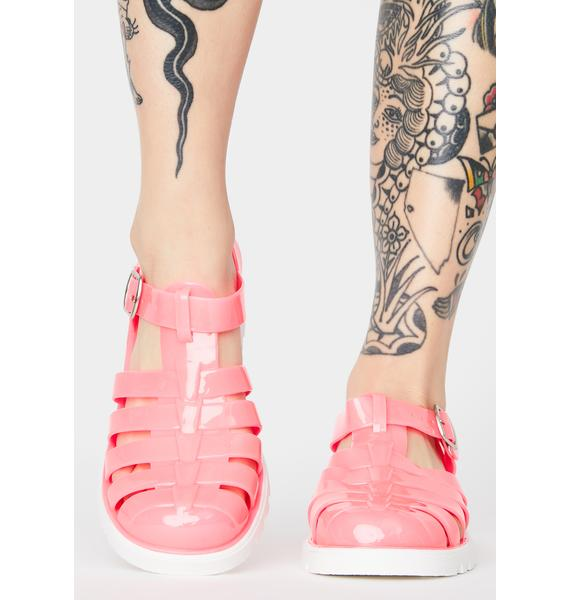 Bubblegum Kick To The Curb Jelly Shoes