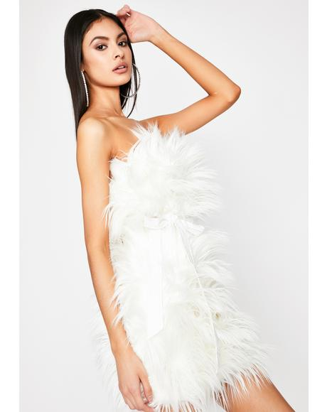 Freaky Elegant Fuzzy Dress