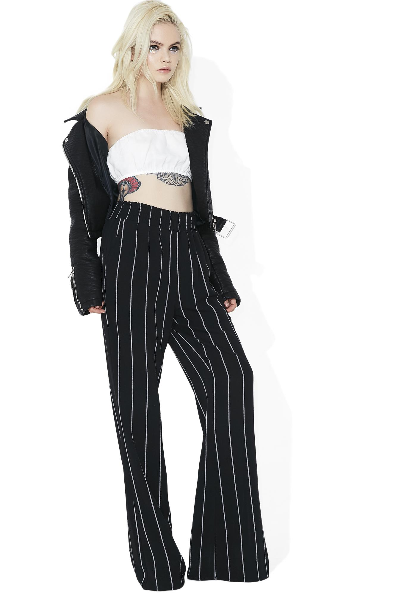 Boss Babe Striped Pants