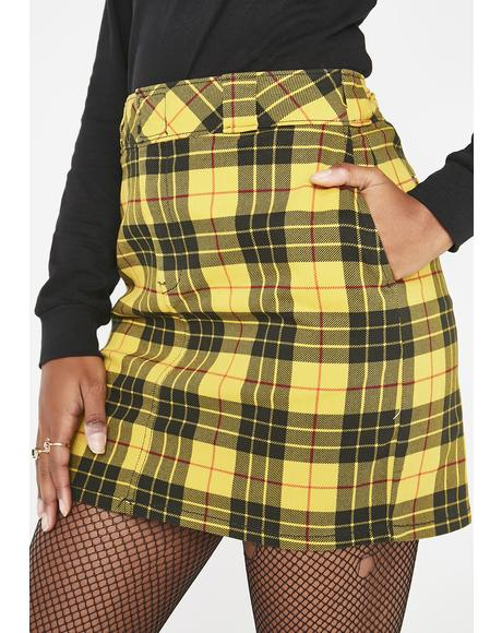 Sunny Plaid Mini Skirt