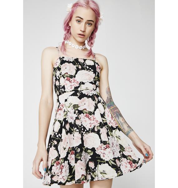 Send Me Flowerz Flare Dress