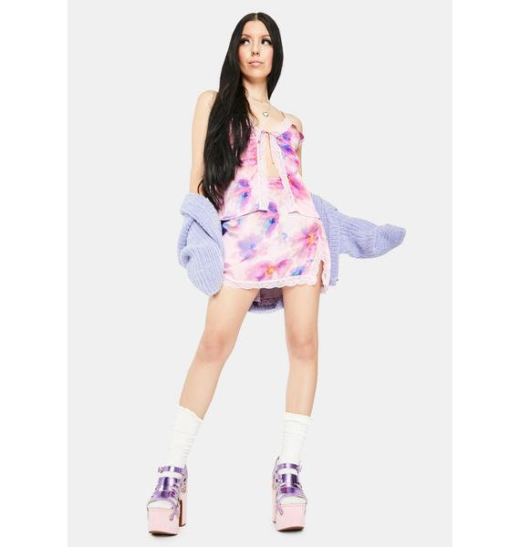 Frankies Bikinis Boden Lace Silk Skirt