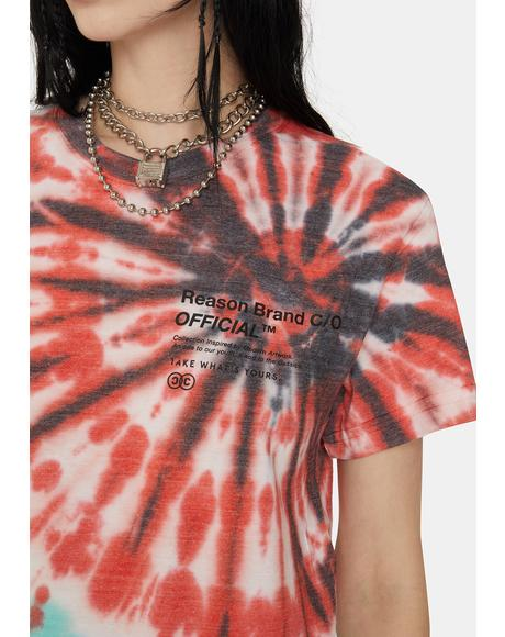 Panther Tie Dye Graphic Tee
