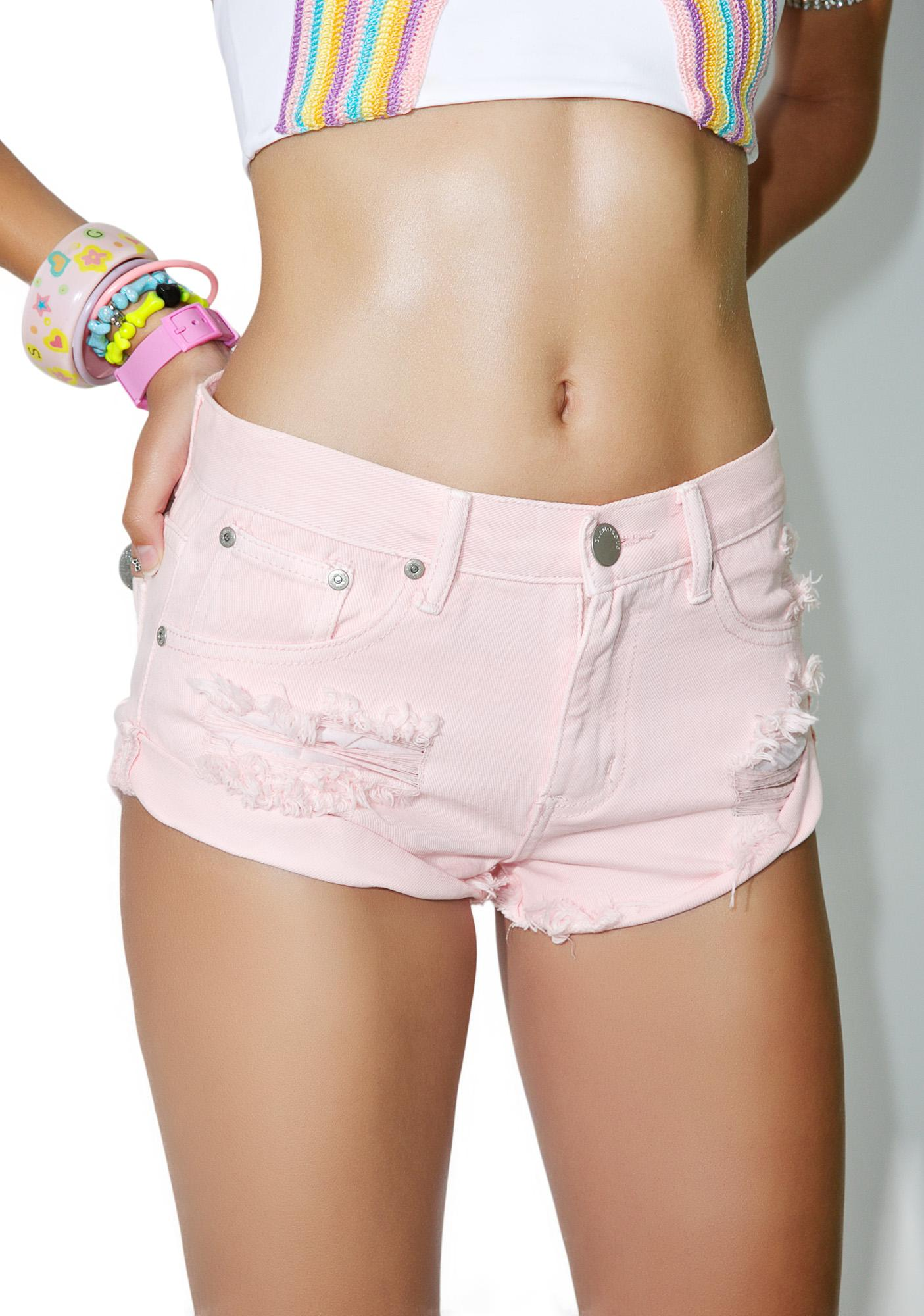 Glamorous Cutie Combat Distressed Shorts