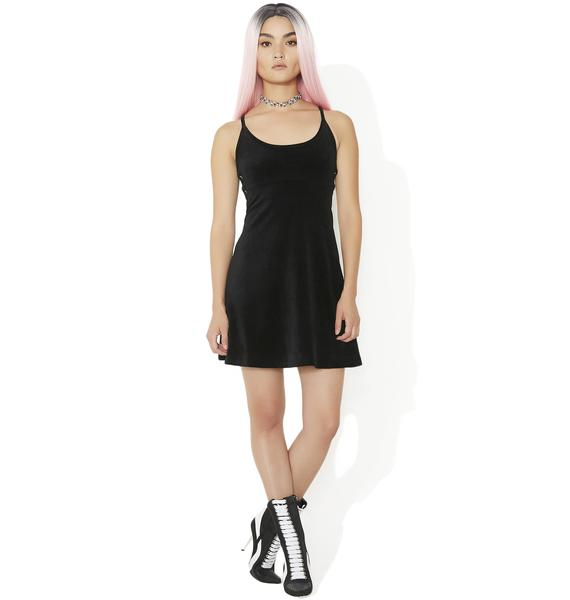JUICY COUTURE Stretch Velour Polo Dress