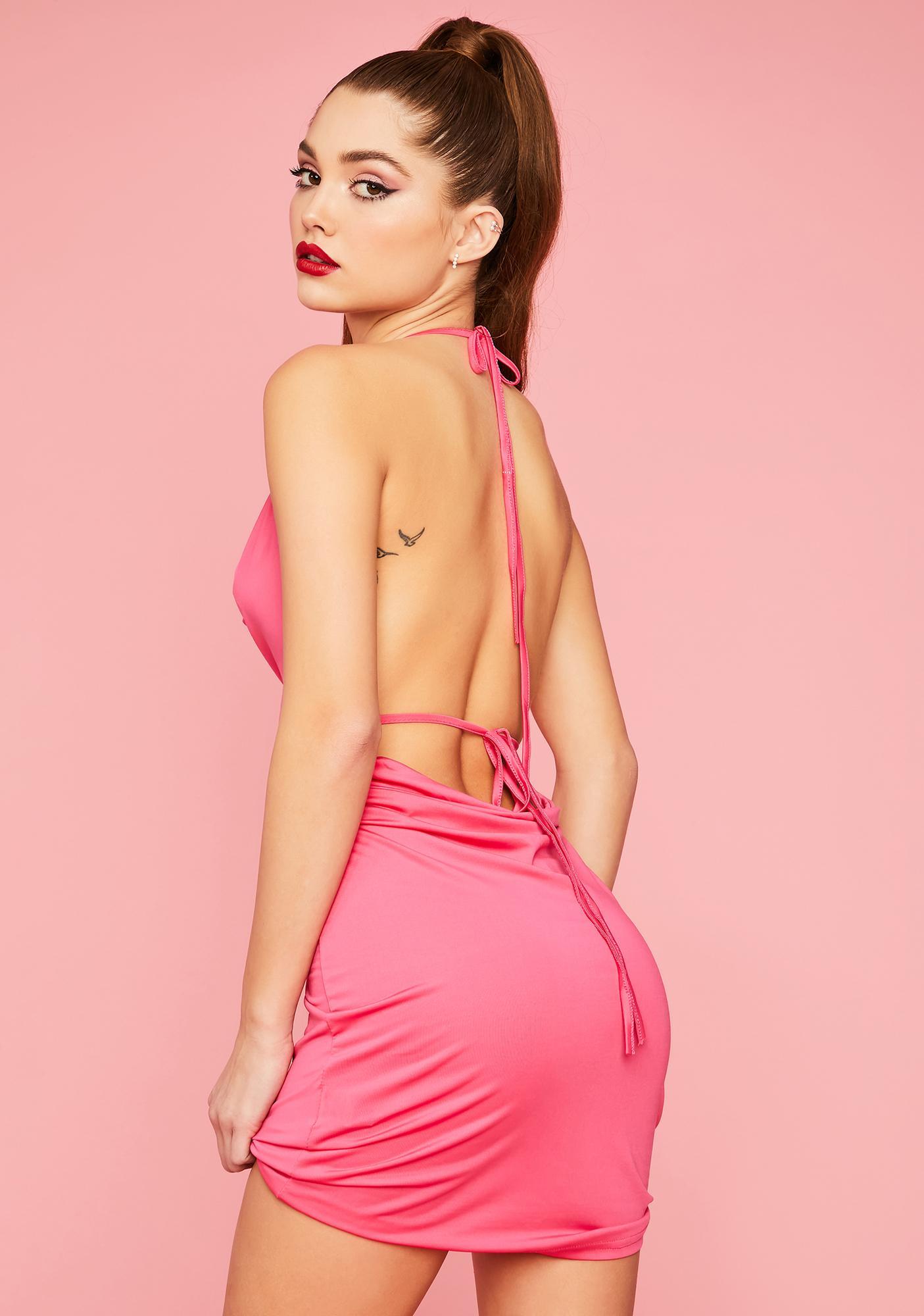 Rose Vip Access Bodycon Dress
