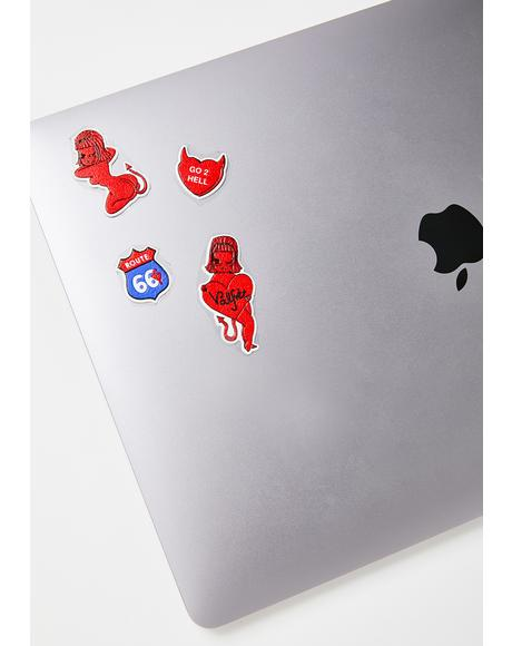 Devilish Lucy Pleather Stickers
