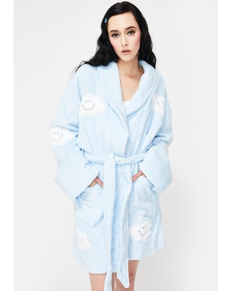 Happy Cloud Applique Short Robe