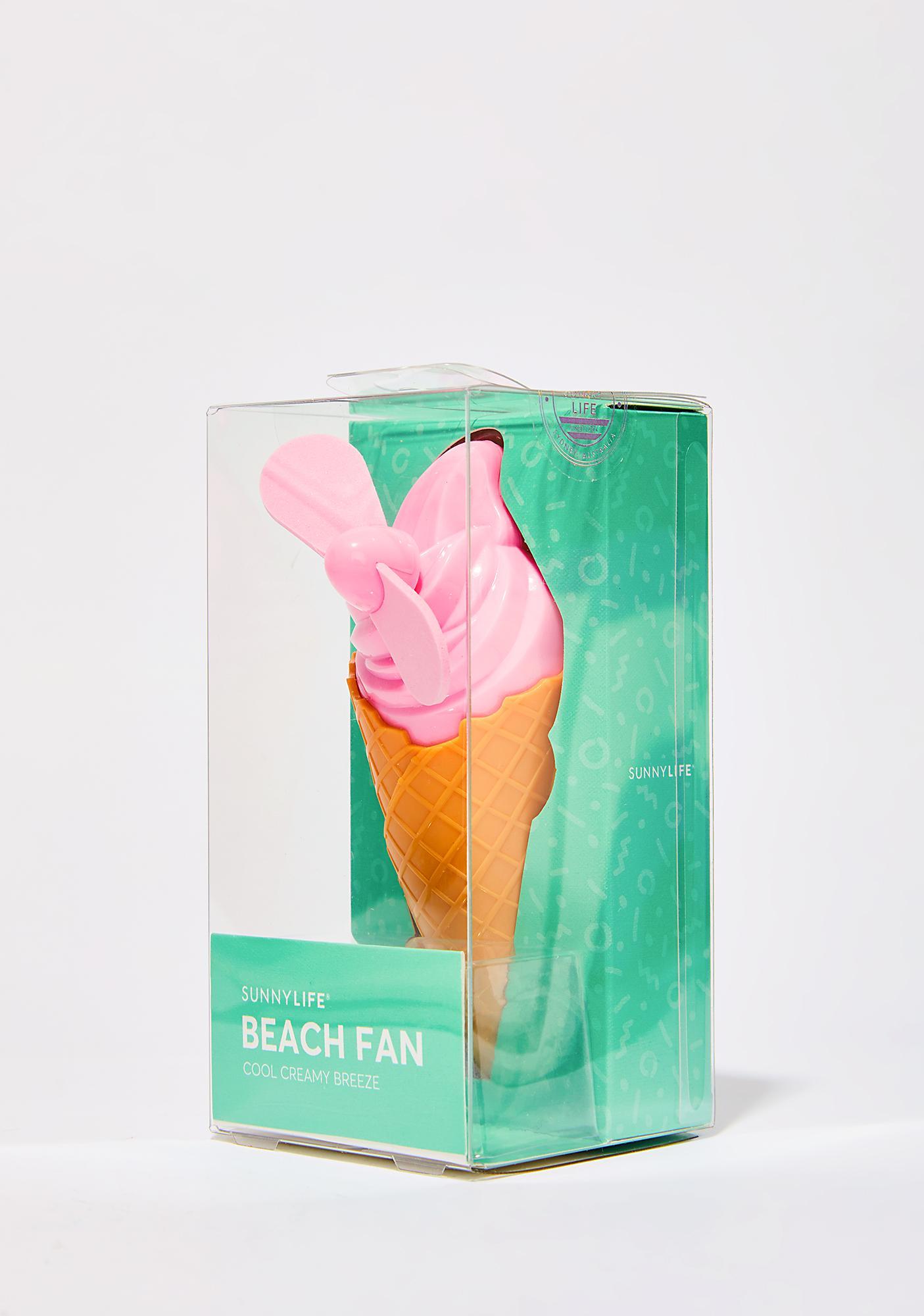 Cream Dream Beach Fan