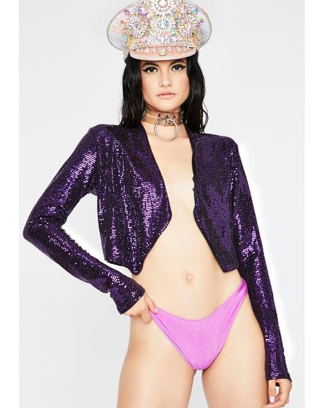 Violet Professional Fairy Sequin Jacket
