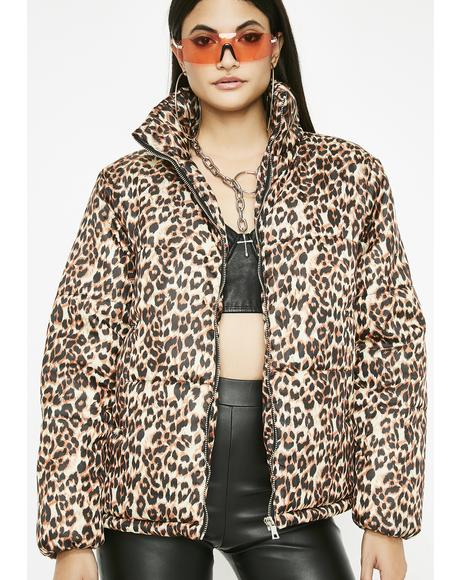 Frisky Behavior Leopard Jacket