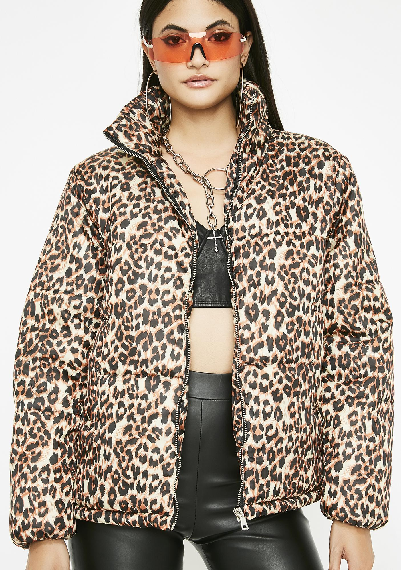 35645d329 Frisky Behavior Leopard Jacket