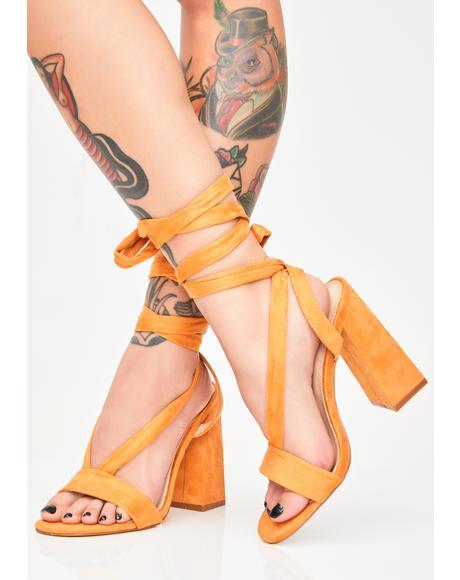 Admire Strappy Suede Heels