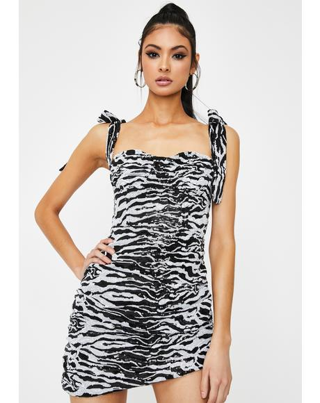 Senorita Zebra Sequin Mini Dress