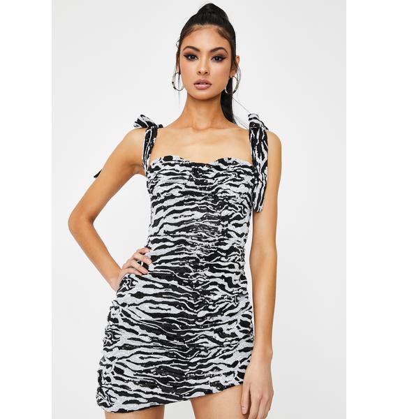 Lioness Zebra Senorita Mini Dress