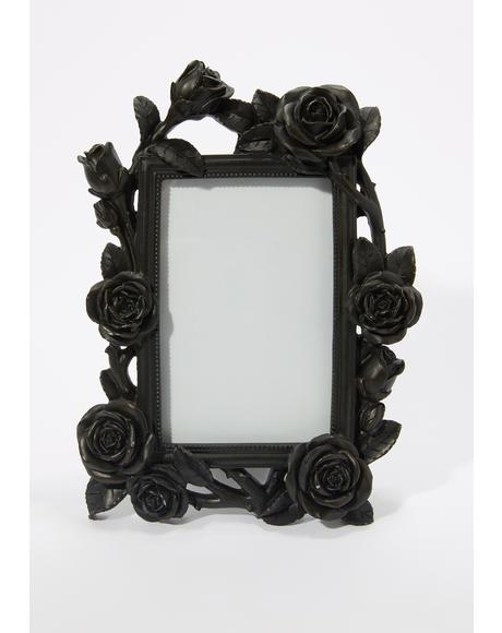 Black Rose And Vine Photo Frame