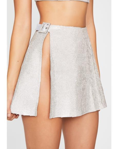 Crystalline Control Rhinestone Skirt