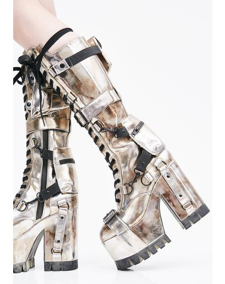 Chrome Wasteland Buckle Boots