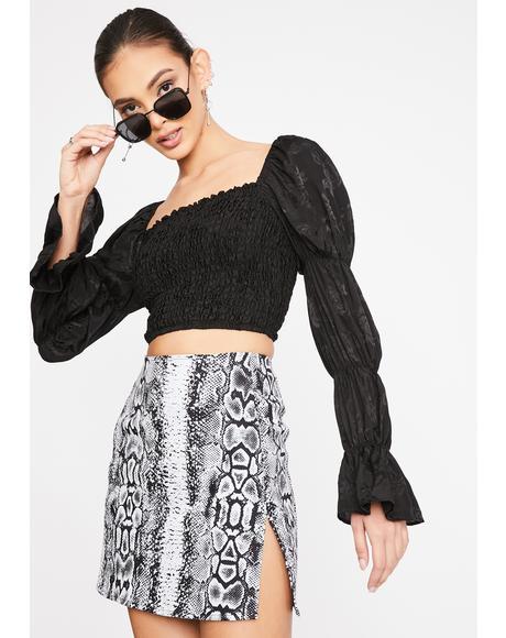 Snake Pelmet Mini Skirt