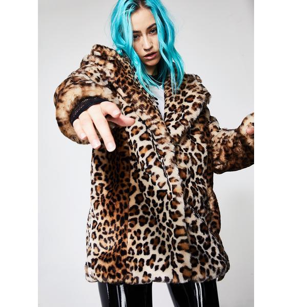 Current Mood Hunt You Down Leopard Coat