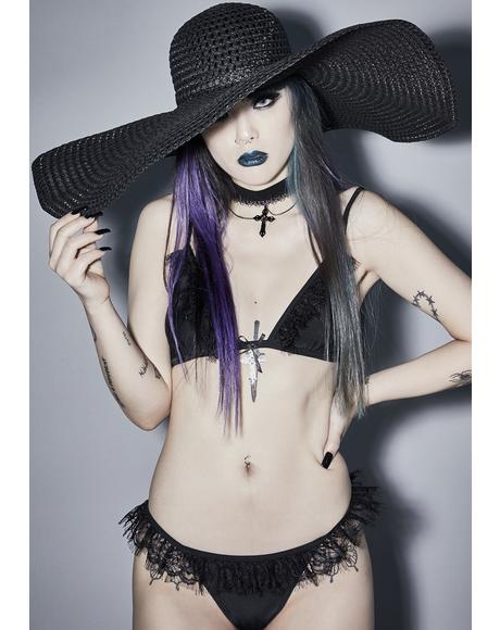 Midnight Moonbath Wide Brim Hat