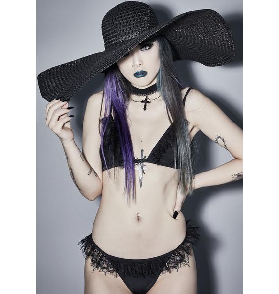 Midnight Moonbath Wide Brim Hat