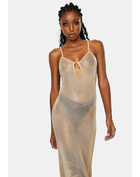 M Extended Gold Chainmail Chemise