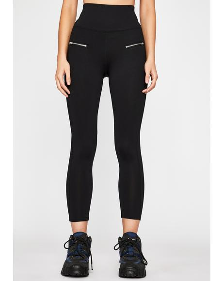Onyx Light Werk Zipper Leggings