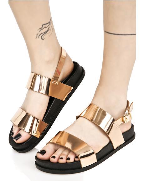 Zanadu Metallic Sandals