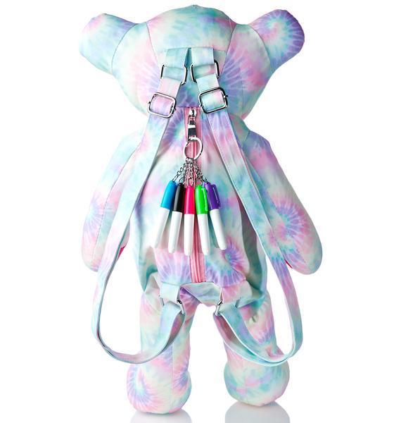 Sugar Thrillz Scribble Bear Backpack