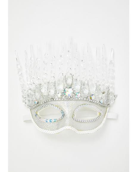 Icy Queen Costume Mask