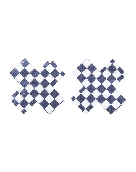 Checker Board Cross Pasties
