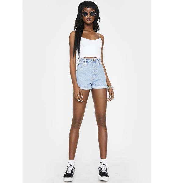 Rollas Sunday Blue Duster Denim Shorts