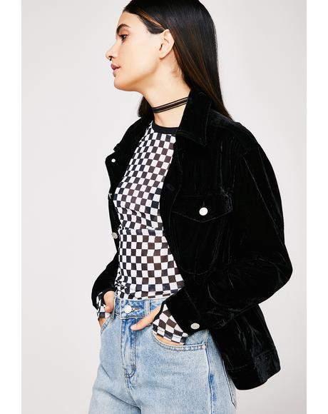 Outta Here Velvet Jacket