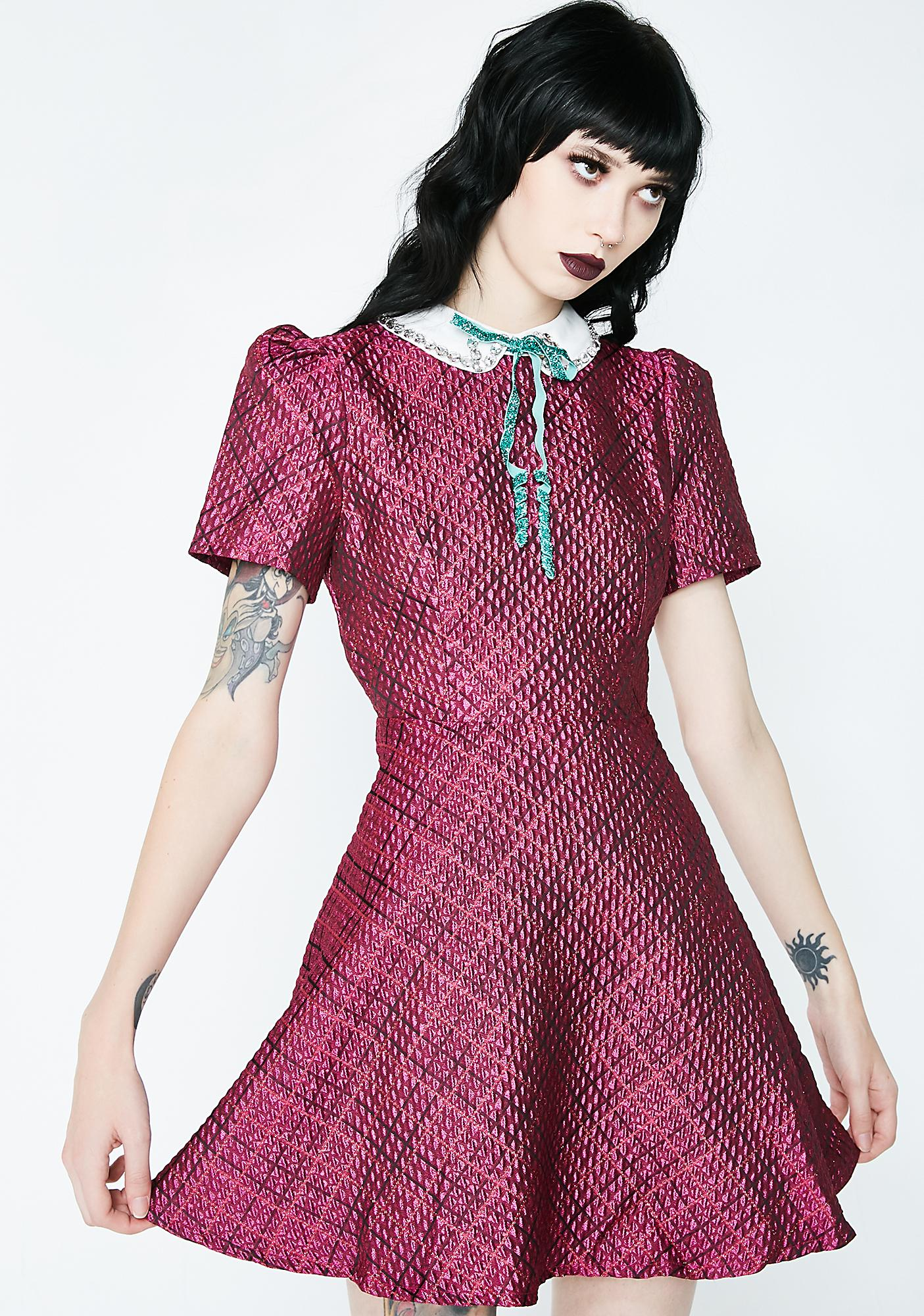 SISTER JANE Pink Noise Skater Dress