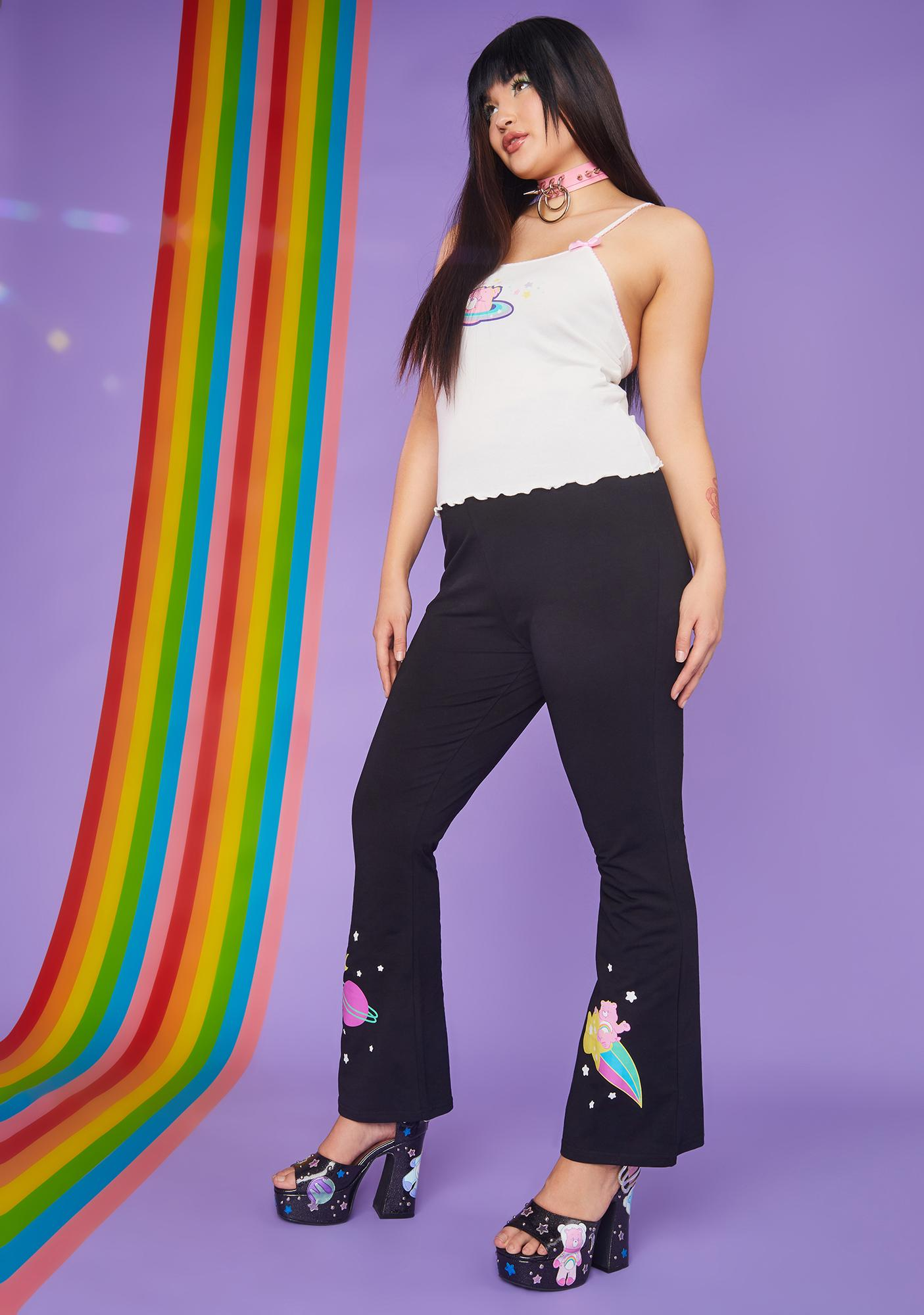 Dolls Kill x Care Bears From Planet Care Printed Flares